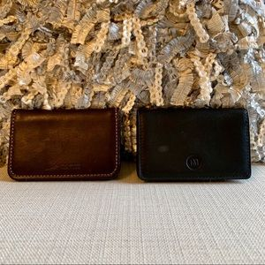 2 Leather Card Holders